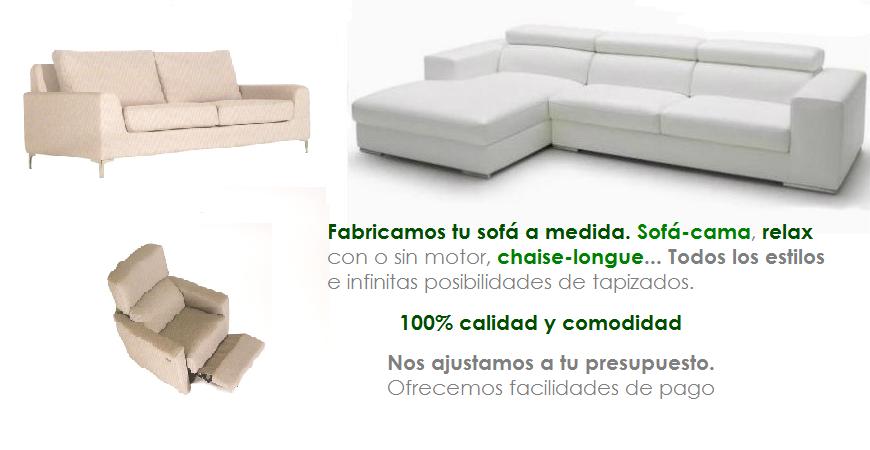 Fabricamos tu sofá a medida
